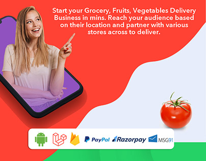 GROFERS ClONE- Multi Store 3 Android Apps & Admin