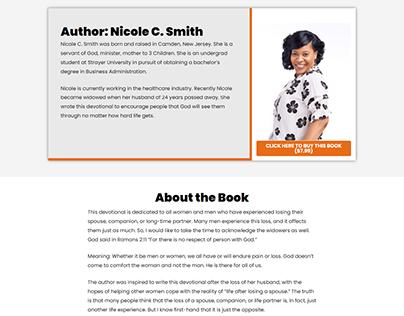 Simple Book Landing Page website