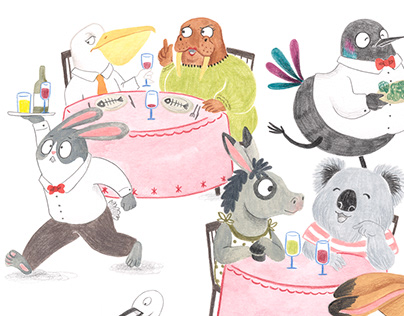 Children's illustration - Restaurant