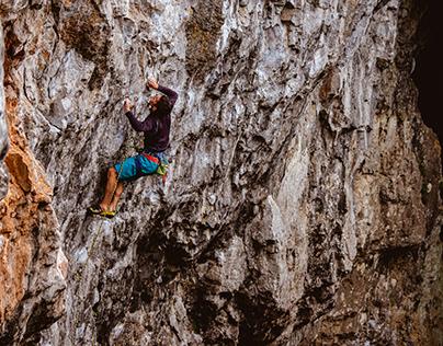 Rock climbing in Moravian Karst