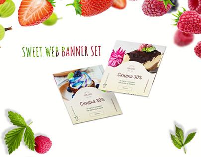 Web banner set for bakkery