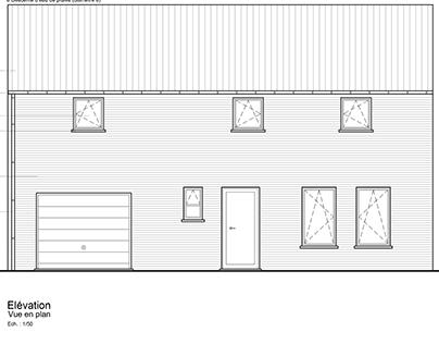Projet 1er année dessin technique Maison sur Autocad 2D