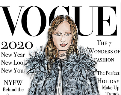 Fashion Illustration Ad: Vogue Cover