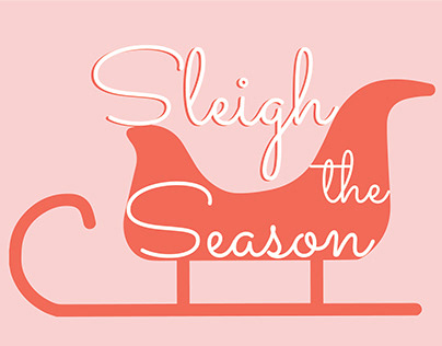 Sleigh the Season Holiday Card