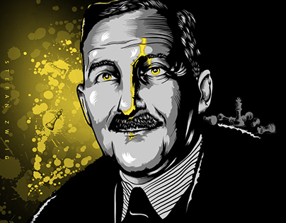 Stefan Zweig - Chess - digital art - vector draw