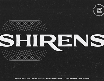 SHIRENS DISPLAY FONT