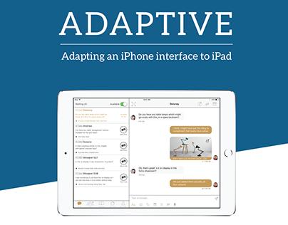 Adaptive - Adapting an iPhone interface for iPad