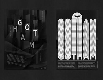 Gotham typeface posters