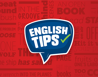 English Tips video series branding