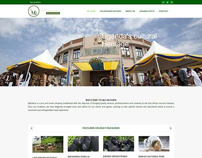 MJ Safaris website
