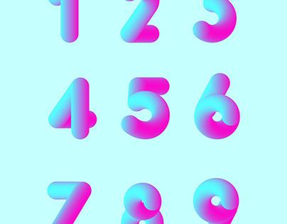 3D Number / Blending