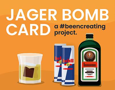 Jagerbomb Greetings Card - Design