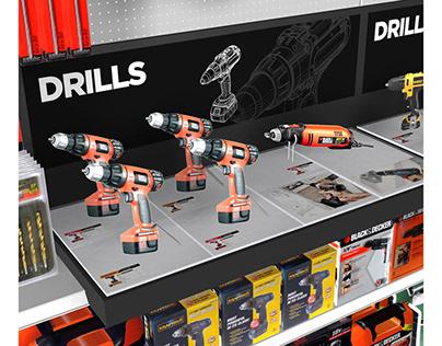 Walmart Power Tools Displays