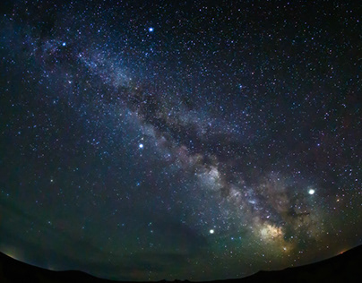 """Summer Triangle"" in Mongolia, July 1, 2019"