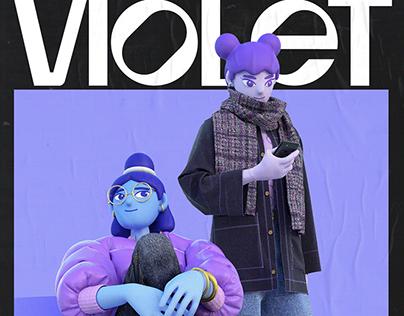 Violet Vol.01-Character illustration