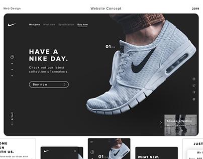 Nike Web Site Concept