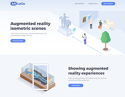 Augmented Reality Isometric Illustrations
