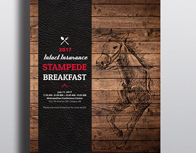 Stampede Breakfast Poster