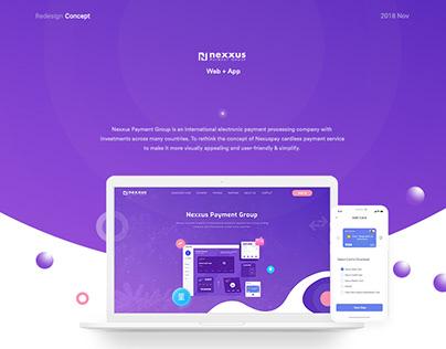 Nexuspay Redesign Concept (Web+App)