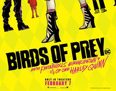 HARLEY QUINN: BIRDS OF PREY Alternative Poster Design