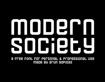 MODERN SOCIETY - FREE FONT