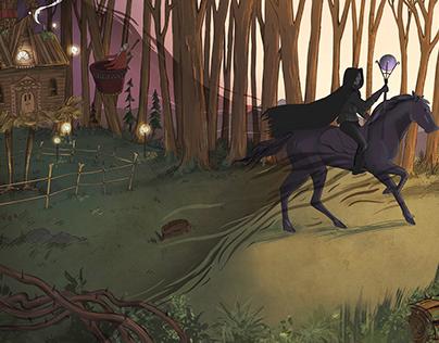 Baba Yaga Story Illustration