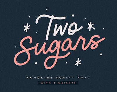 Two Sugars Script Font