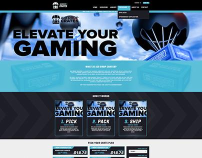 AirDrop Crates Homepage Design