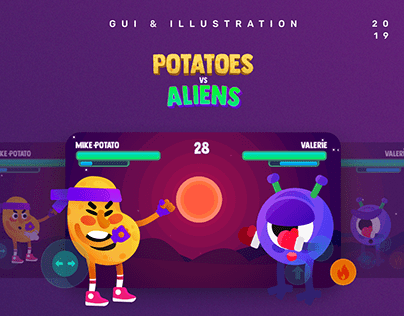 Potatoes vs Aliens - Game UI