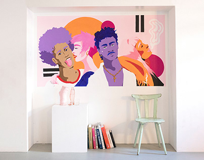 Millennial Faces – Mural