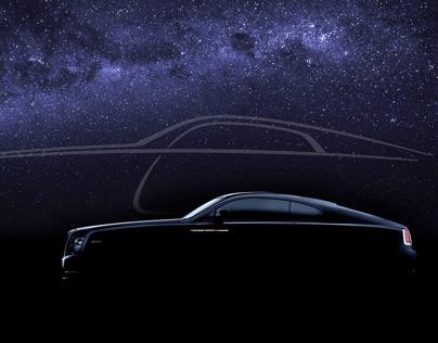 Car Fine Art shoot (FDL-technique) Rolls Royce Wraith