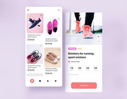 Shoes / Sneakers APP UI Design.