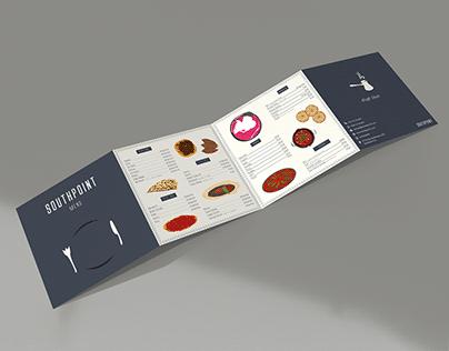 Quad Fold Brochure Menu Design & Illustration