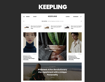 KEEPLING – clean Blog & Magazine template