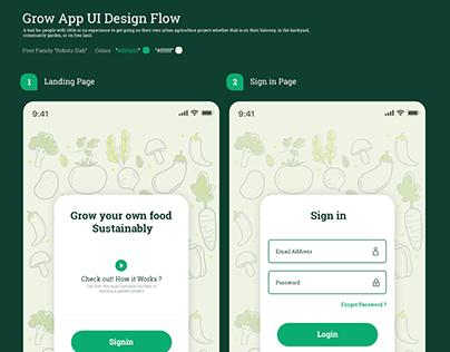 IOS Gardening App UI/UX Flow