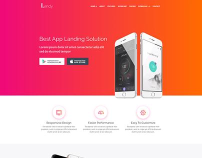 Landy App Responsive Landing Page