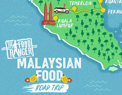 THE FOOD RANGER ILLUSTRATED ITINERARY MAP