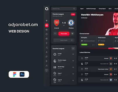 Adjarabet UI Design