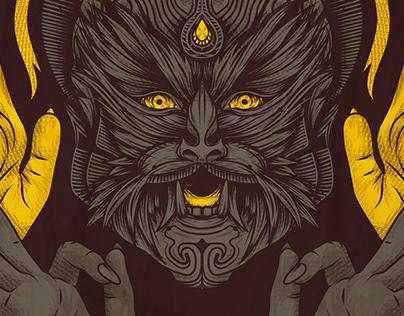 Tarian Setan, vector art by Kevin Hohler. 2016