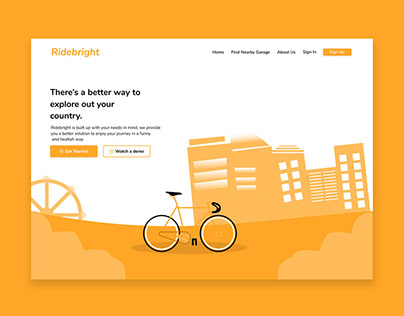 Ridebright - bikes rental Startup