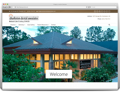 Responsive Website Design for Dentist of Charleston, SC