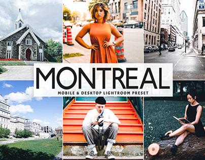 Free Montreal Mobile & Desktop Lightroom Preset