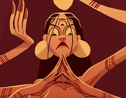 Kaah Goddess of Chaos illustration & process.