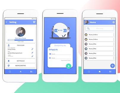 data transmission system - app mobile