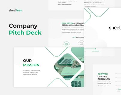 Pitch Deck | PowerPoint Presentation | Sheetless