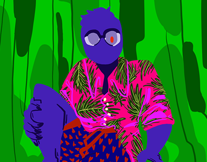 Illustrated Self Portrait Series (1)