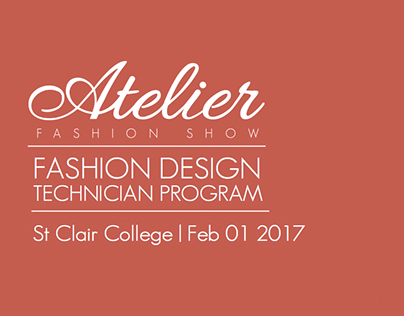 St.Clair College - Atelier Fashion Design Branding