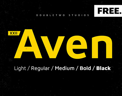 XXII Aven - Free Font Family