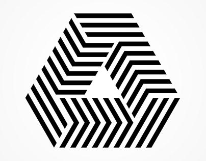 3d logo design | Black and white | Polygon