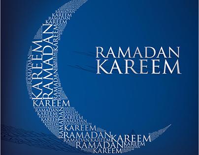 Vector Ramadan Kareem Tag cloud moon